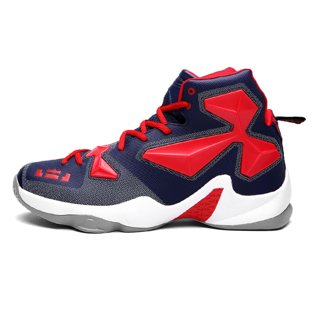 Fashion Men Sport PU Basketball Shoes Outdoor Lightweight Anti-slip Sneakers 2baf08ae64d