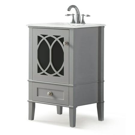 Brooklyn + Max Denning 20 inch Contemporary Bath Vanity in ...