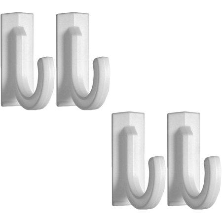 """4 Multi-Use Plastic 3"""" Adhesive Hooks (4 Hooks)"""