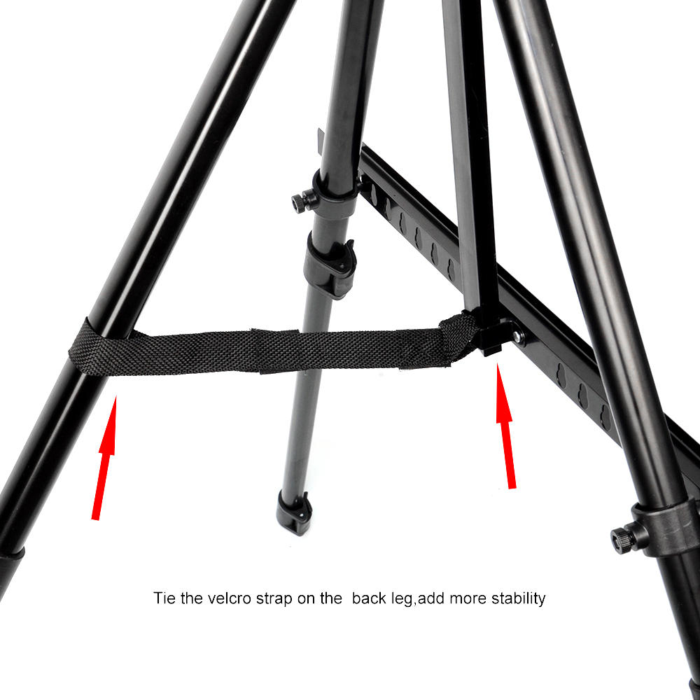 Primecables 63 H Adjustable Portable Art Easel Metal Telescopic Tripod Display Stand For Painting Drawing Studio Field Floor Table Top With Carrying Case Walmart Canada