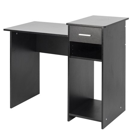 High-quality Integrated Melamine Board Computer Desk with Drawer 8526 Black