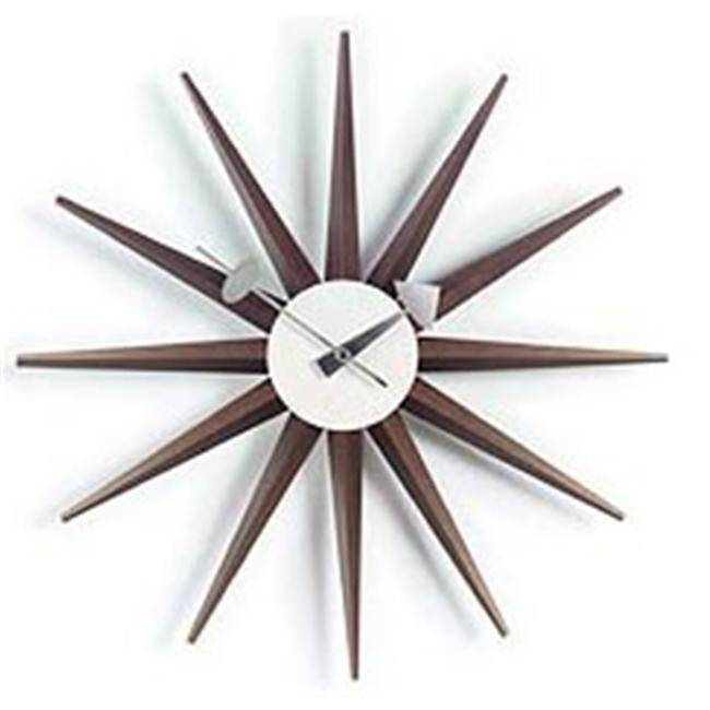 Kirch G81319W George Nelson Sunburst Clock