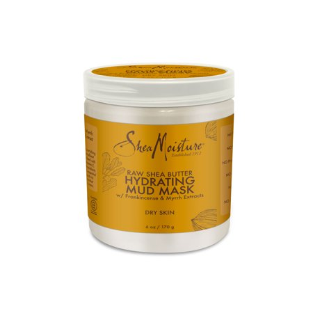 Raw Shea Butter Mud Mask - Hydrates and Renews Dry Skin - Sulfate-Free with Natural and Organic Ingredients - Deeply Moisturizes for a Glowing Complexion (6