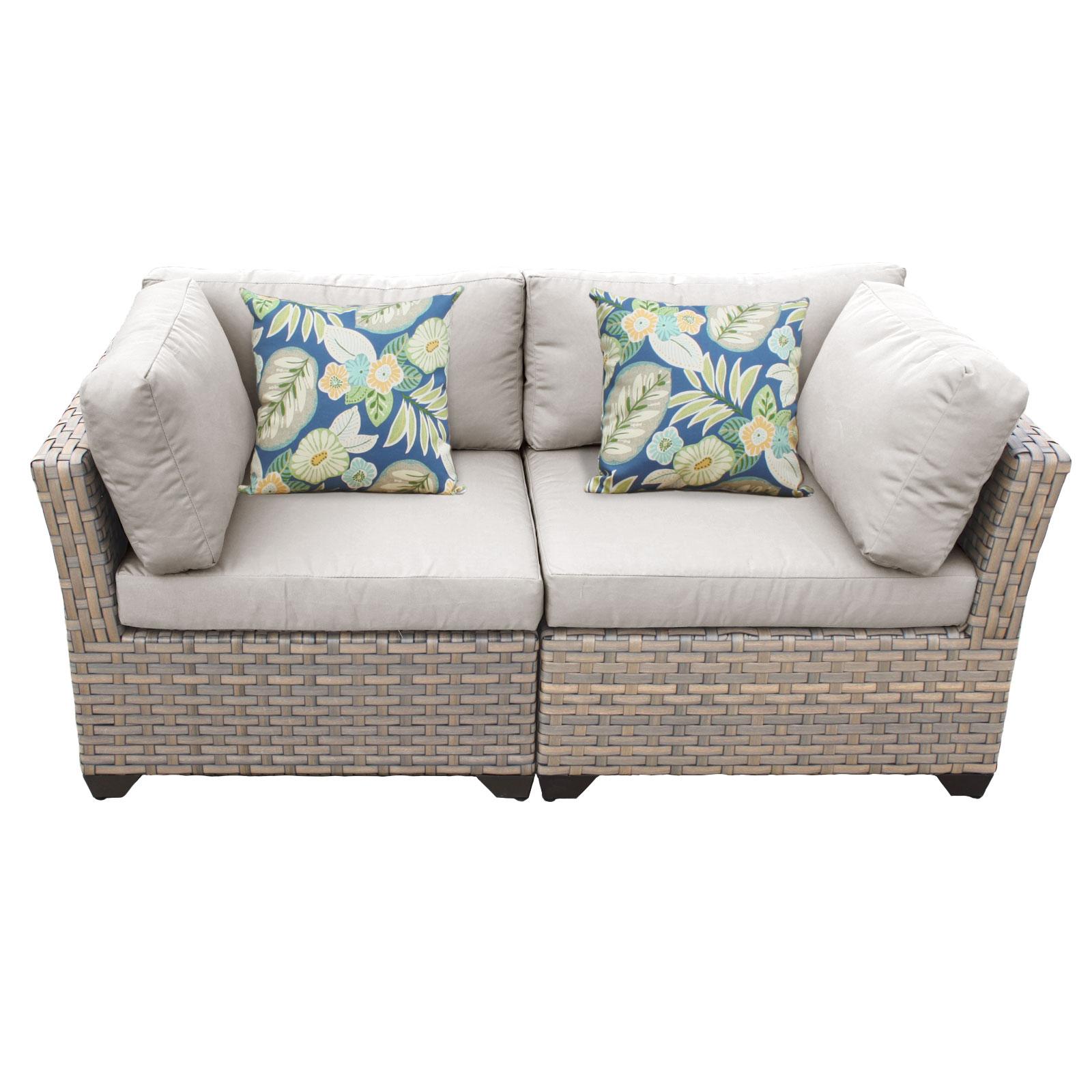 Hampton 2 Piece Outdoor Wicker Patio Furniture Set 02a