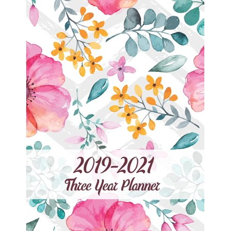 Three Year Planner 2019-2021: 36 Month Yearly Planner Monthly Calendar V13 (Paperback) (Planner Monthly Calendar)