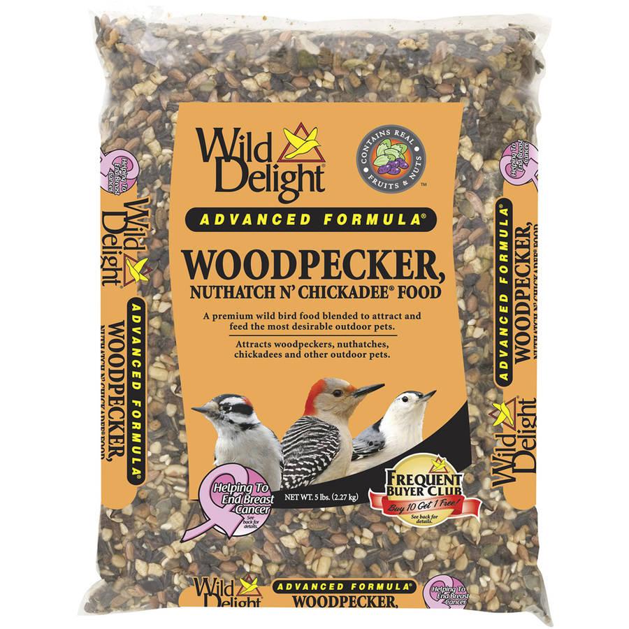 Wild Delight 364050 5 Lb Woodpecker, Nuthatch N' Chickadee Bird Seed
