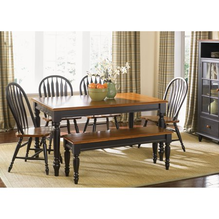 Liberty Furniture Low Country Black Rectangle Leg Dining Table ()