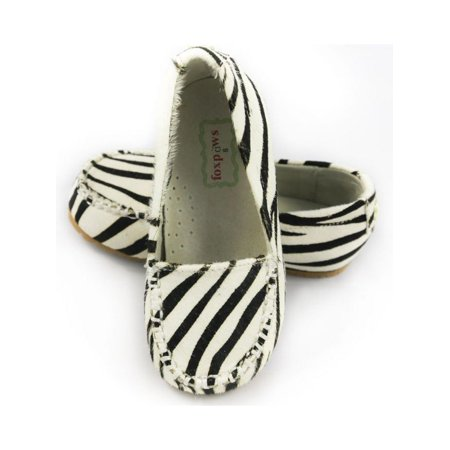 Foxpaws Zebra Ava Leather Little Girl Loafers Shoe 11-12 (Ziera Shoes)