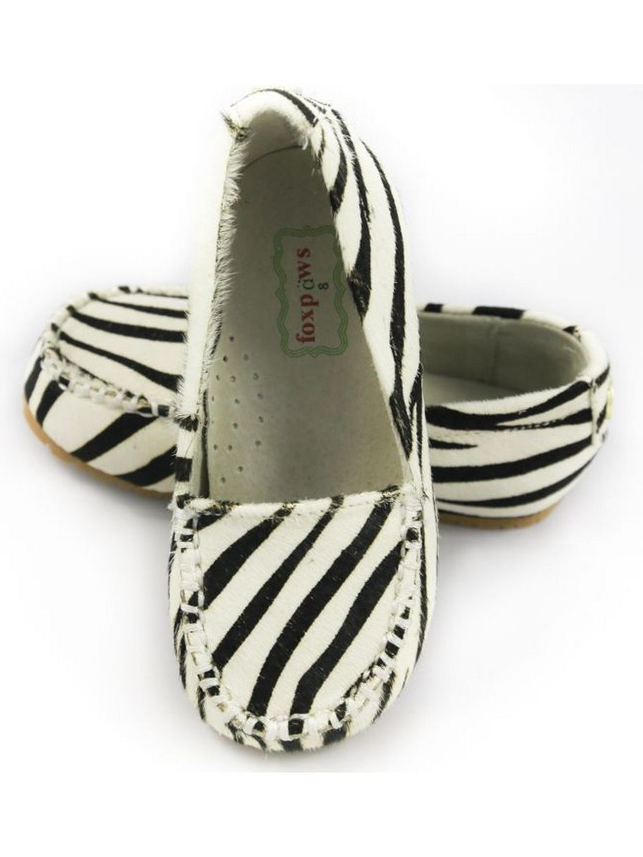 Foxpaws Zebra Ava Leather Little Girl Loafers Shoe 11-12