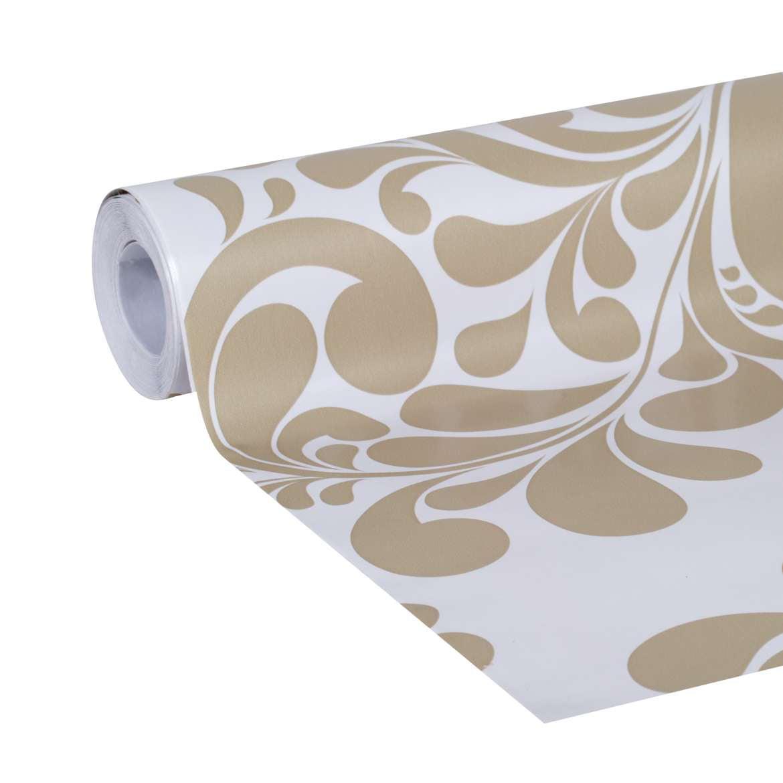 """Duck Brand Deco Adhesive Laminate Shelf Liner, 20"""" x 22', Taupe Swirl"""