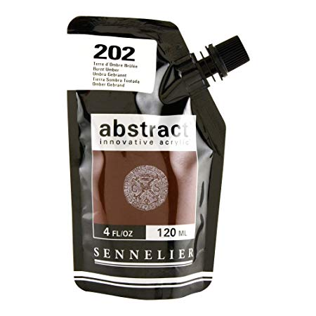 Sennelier - Abstract Acrylic - Satin - Burnt Umber