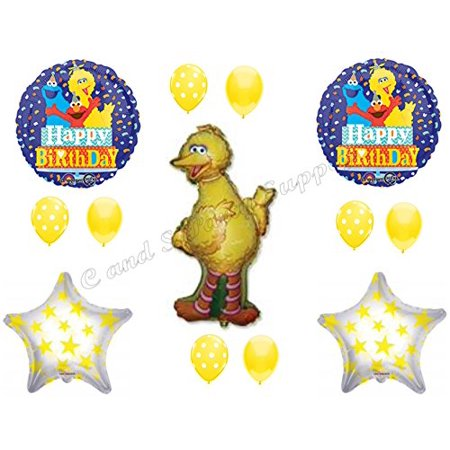 New Big Bird Birthday Party Balloons Decorations Sesame Street