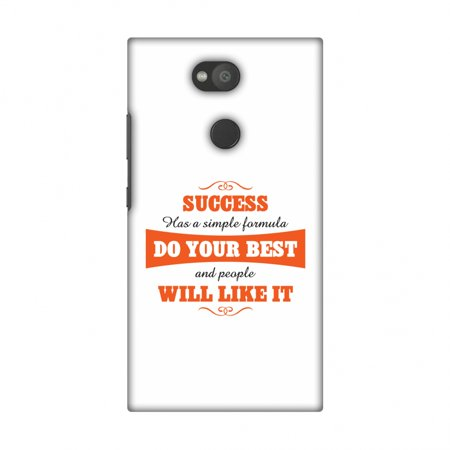 Sony Xperia L2 Case, Premium Handcrafted Printed Designer Hard Snap On Case Back Cover with Screen Cleaning Kit for Sony Xperia L2 - Success Do Your