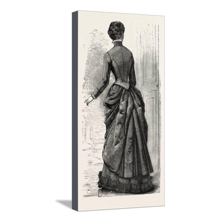 Morning Costume Back, Fashion, 1882 Stretched Canvas Print Wall