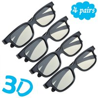 4 Pairs Passive 3D Glasses with Polarized Plastic Lenses for LG 3D TV AG F310 4