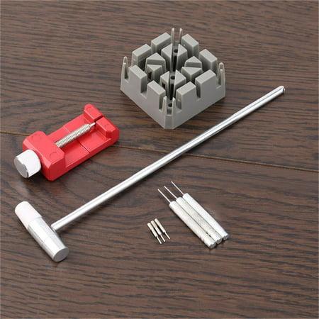 10pcs set practical watch repair watchband steel belt tools remover watchmaker. Black Bedroom Furniture Sets. Home Design Ideas