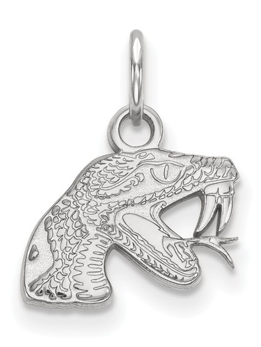 925 Sterling Silver Rhodium-plated Laser-cut Florida State University XS Pendant