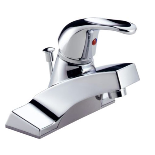 Peerless P36LF Single Handle Centerset Bathroom Sink Faucet, Chrome
