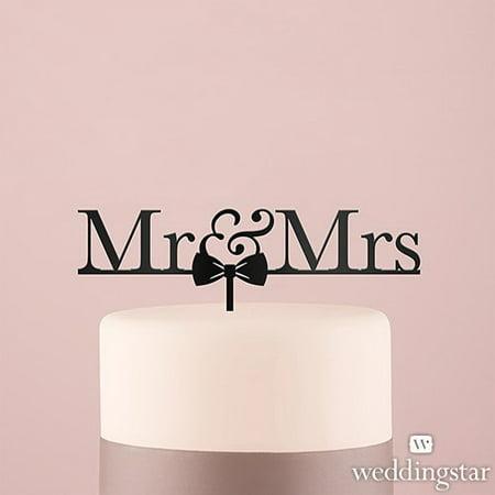 Weddingstar 4462-10 Mr & Mrs Bow Tie Acrylic Cake Topper - Black](Bow Tie Cake)