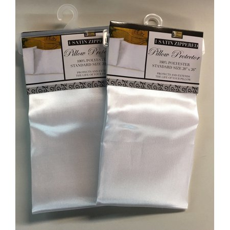Set of 2 Satin Pillowcases with Zippers