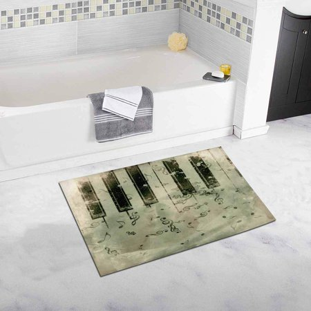 - CADecor Vintage Grunge Country House Image with Rose and Music Notes Plush Bathroom Decor Rug Mat , Doormat 30x18 inches