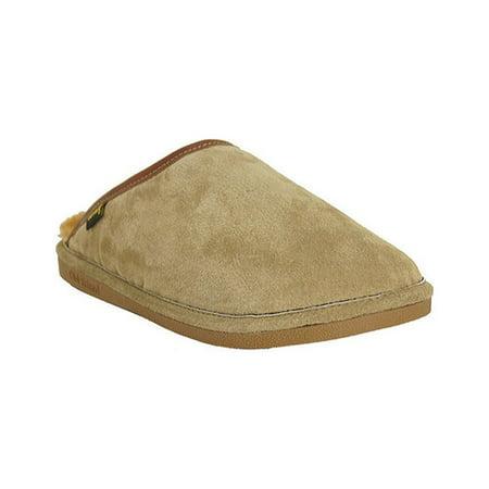 Old Friend Men's Sheepskin Full Grain Trim Scuff Slippers, Regular & Wide ()