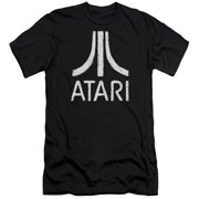 Atari - Rough Logo - Premium Slim Fit Short Sleeve Shirt - Medium