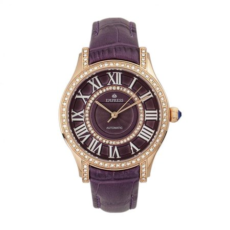Empress EMPEM2602 Xenia Womens Automatic Leather Band Watch - Blue - image 1 de 1