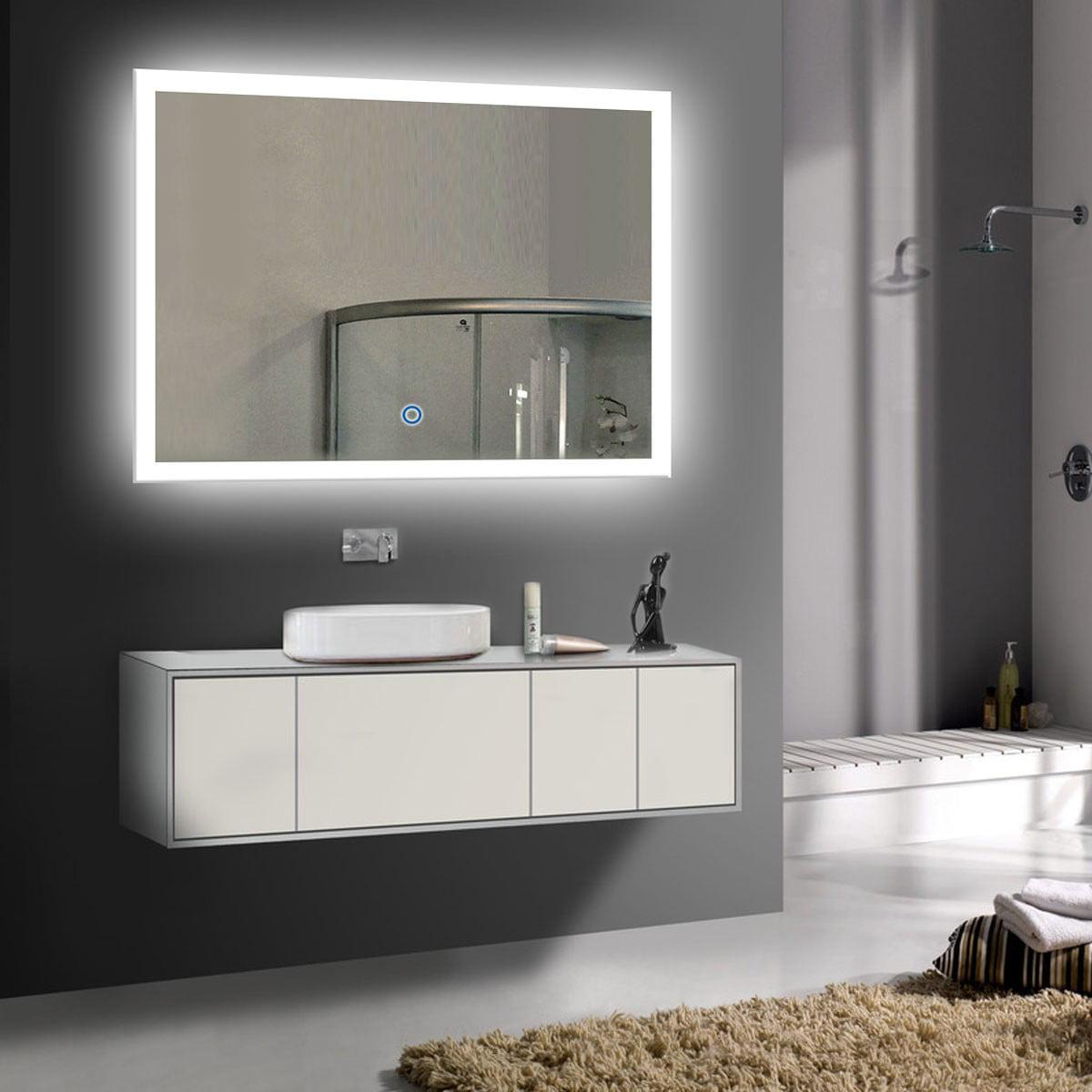 Decoraport 36 mirror for wall mirror modern bathroom vanity lights wall 36 x 28 inch n031 i