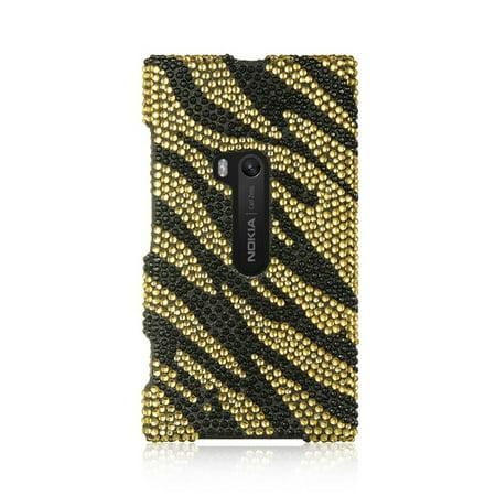 Insten For Nokia Lumia 920 Full Diamond Case Golden (Zebra Full Diamond)