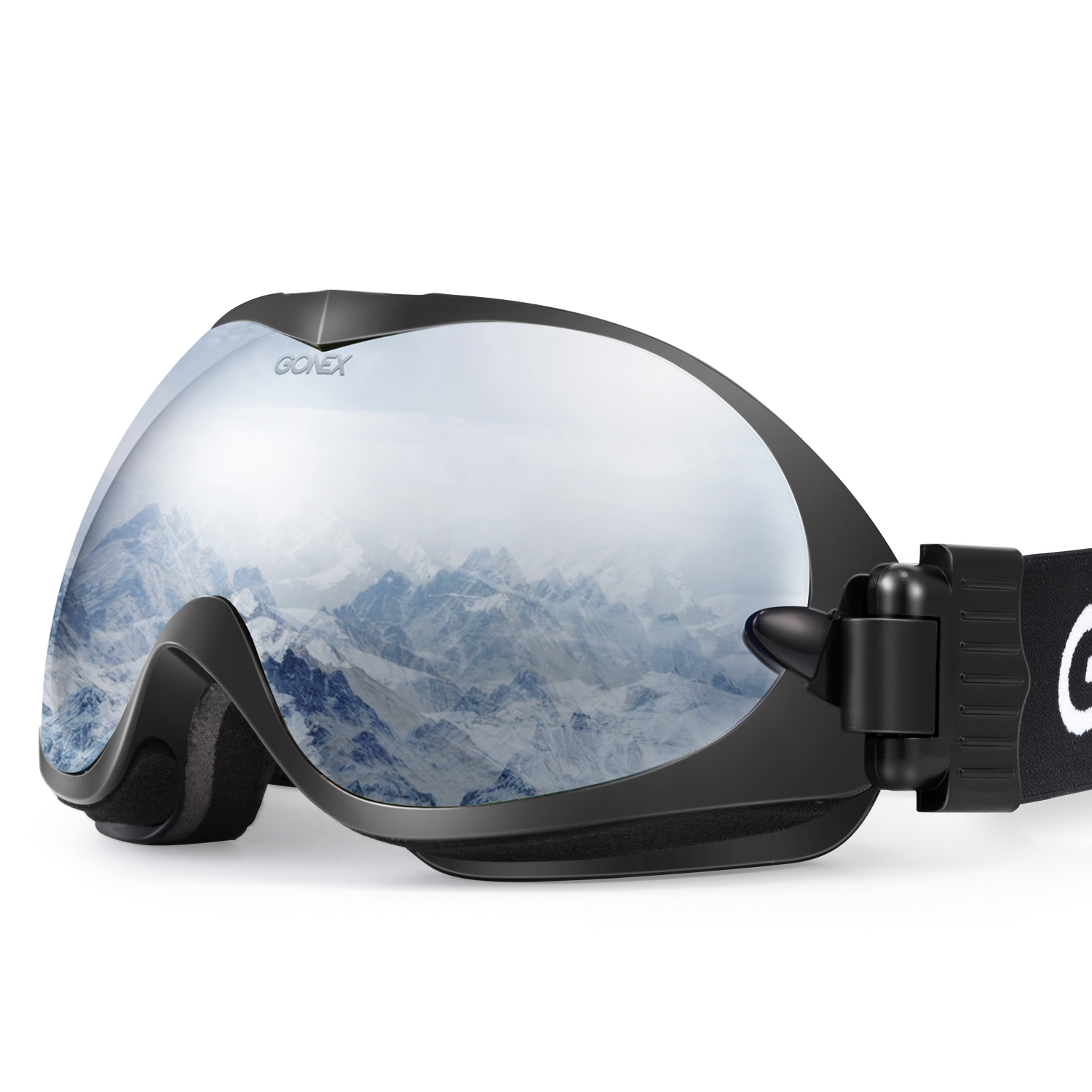 Gonex Professional Ski Goggles OTG Anti-fog Windproof Snow Snowboard Double Lens Winter Sports Goggle Case EVA Box by Gonex