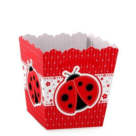 Modern Ladybug - Party Mini Favor Boxes - Baby Shower or Birthday Party Treat Candy Boxes - Set of 12 - Bug Shaped Candy
