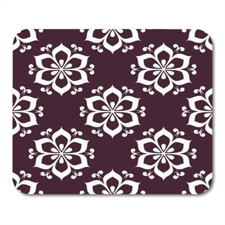 SIDONKU Art Floral Maroon Seamless Pattern Background with Fower Elements for Mousepad Mouse Pad Mouse Mat 9x10 inch