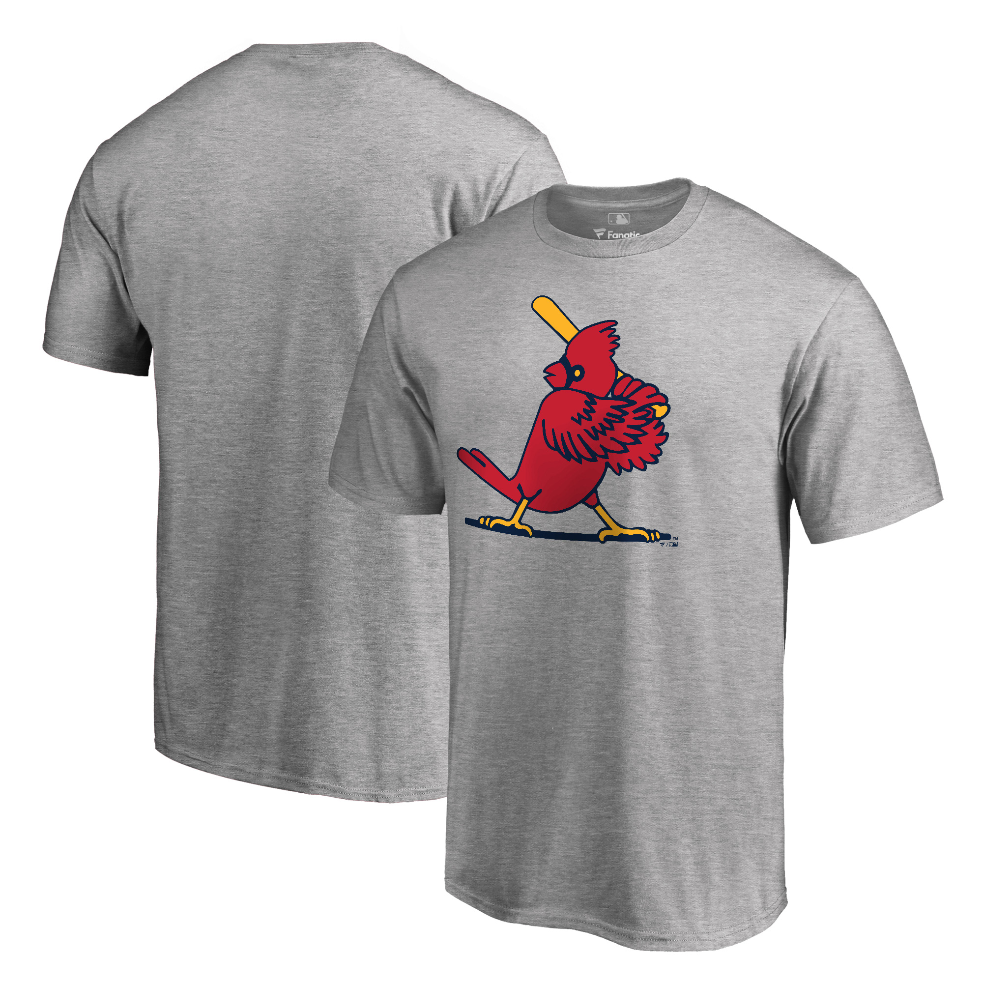 St. Louis Cardinals Fanatics Branded Cooperstown Forbes T-Shirt - Heathered Gray