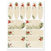 Tree Cardinal Labels - Set of 42 Gift Tags