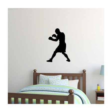 Zoomie Kids Wilfred Boxer Boxing Silhouette Wall (Bowling Silhouette)