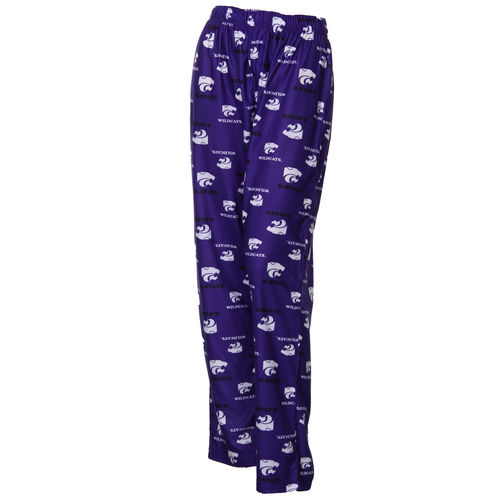 Kansas State Wildcats Youth Team Logo Flannel Pajama Pants - Purple