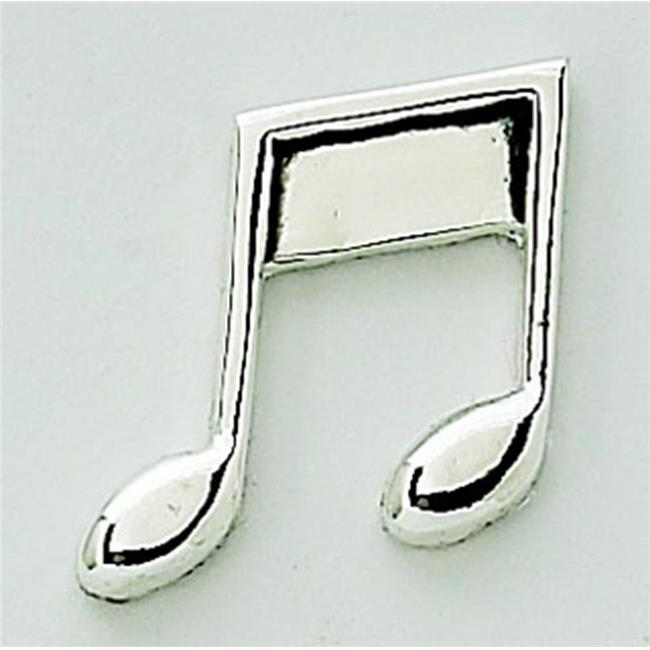 Creative Gifts International 013256 1 x.75 in. Peel & Press Music Note Icon - Silver Plated - image 1 de 1