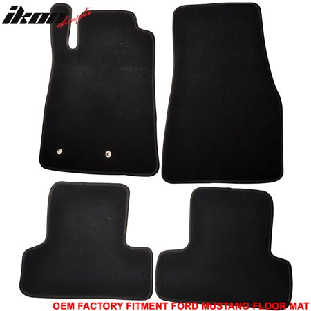 Compatible with 05-09 Ford Mustang 2Dr OE Factory Compatible withment Car Floor Mats Front & Rear Nylon Mustang Cargo Carpet