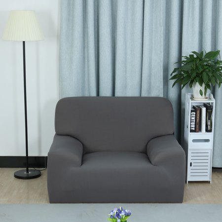 Family Polyester Elastic 1 Seat Removable Chair Cover Protector Gray 90-140cm - image 5 de 7