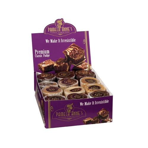 Assorted Individual Wrap Fudge Cups: 24 Count
