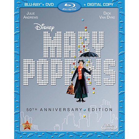 Disney 50th Anniversary - Mary Poppins (50th Anniversary Edition) (Blu-ray + DVD + Digital Copy)