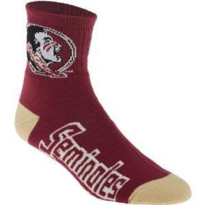 NCAA - Florida State Seminoles Team Color Quarter Socks