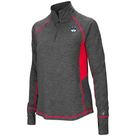 Womens UConn Huskies Quarter Zip Pull-over Long Sleeve Shirt