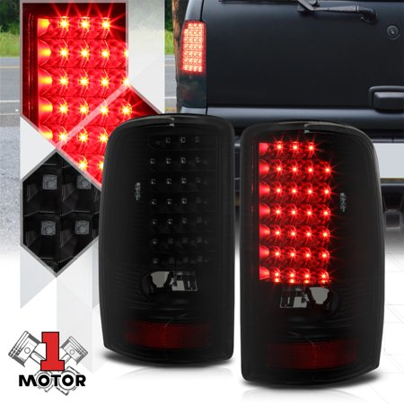 03 Gmc Denali Yukon Tail (Black/Smoked *FULL LED* Tail Light Brake Lamp for 00-06 GMC Yukon/Tahoe/Suburban 01 02 03 04)