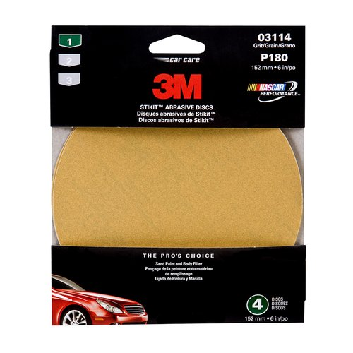 "3M 03114 6"" Fine Adhesive Backed Sanding Disc"