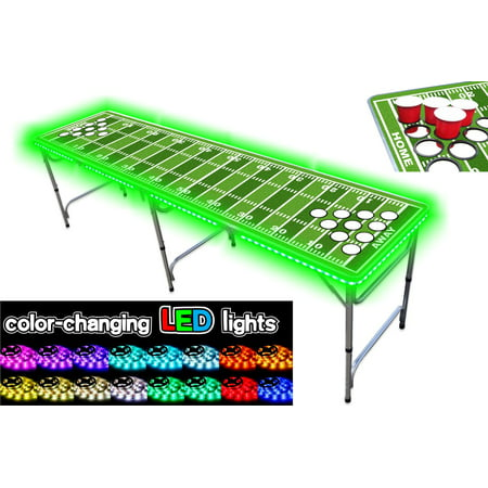 8-Foot Professional Beer Pong Table w/ OPTIONAL Cup Holes, LED Lights, Dry Erase Surface & Beer Pong Table Graphics - Choose Your Beer Pong Table Model - Party City Beer Pong Table