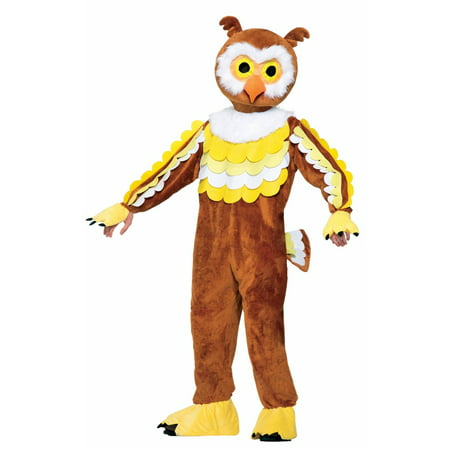 Halloween Give A Hoot Owl Mascot Adult Costume - Seahawks Mascot Costume