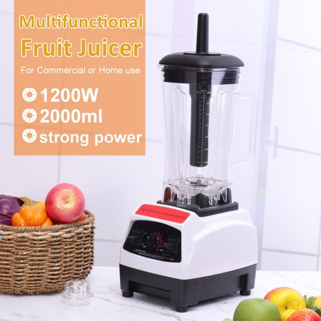 Blender Smoothie Blender - 0.53 Gal Countertop Blender 1200 Watt Base - High Performance Ice Crusher - Large Smoothie Blender, Food Processor Frozen Fruit or Hot Soups