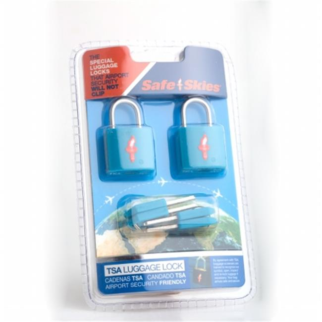 Safe Skies No. 202a TSA-Approved padlocks double-set - Caribbean Blue